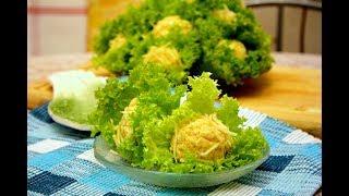 Легкий Салат «Морское дно». #салат #крабовые палочки Домашний ресторан®