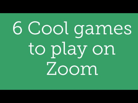 6 Cool Games To Play On Zoom Accessible Youtube