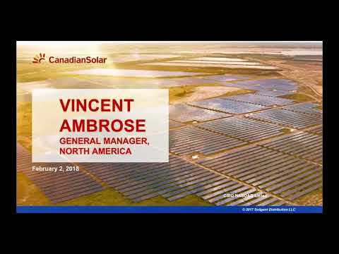 Section 201 Solar Tariffs Webinar - Soligent (Part Four) Canadian Solar
