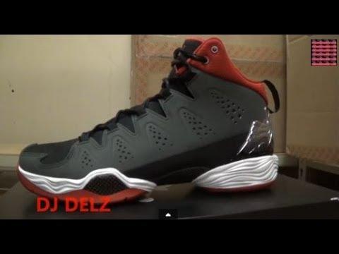 sports shoes a42b4 d2af4 Air Jordan Melo M10 Tinker hatfield Anthracite Gym Red Sneaker Review + On  Feet W/ @DjDelz Dj Delz