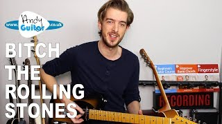 BITCH The Rolling Stones Guitar Lesson Tutorial - Easy Riff!
