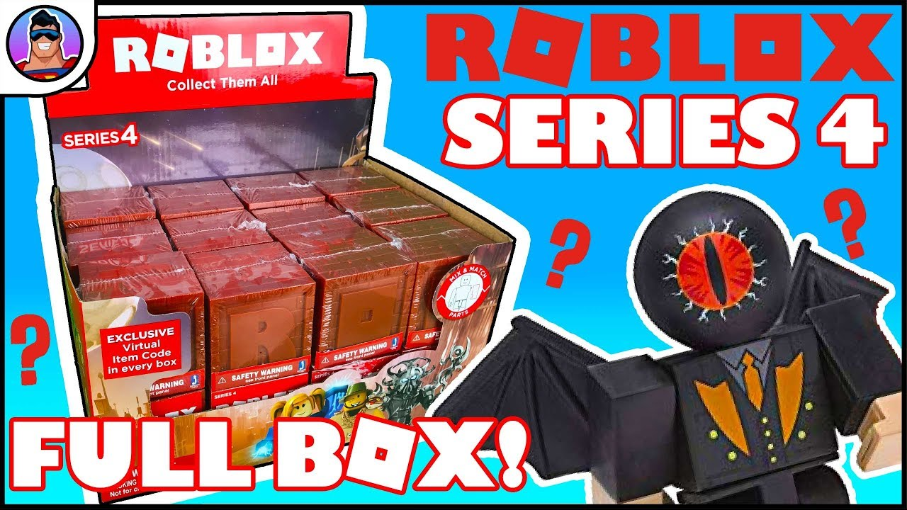 Roblox Series 4 - Roblox Series 4 Mystery Box Opening Entire Box To Open Virtual Item Toy Review