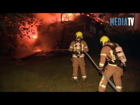 Grote uitslaande brand bij Scouting Tono-groep Sweelincksingel Schiedam