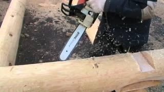 Канадская рубка.  Canadian hand-crafted log cabin. Недорогие срубы в канадку.(Срубы из Псковской области: Канадка ( Канадская чаша). http://domlafet.ru Russia log cabin, Russia log house., 2013-04-30T16:52:36.000Z)