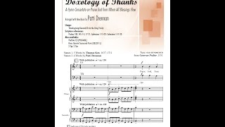 Doxology of Thanks (SATB) - arr. Patti Drennan