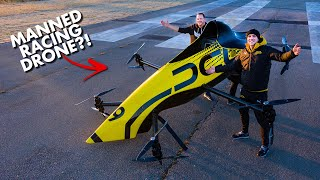 First Manned Aerobatic RACING Drone - Will it FLIP?