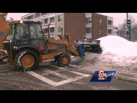 Storm cleanup underway in South Boston