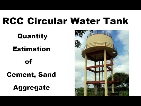 Estimate of the RCC circular water tank in Hindi/urdu by Parag Kamlakar Pal.