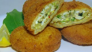 BREAD PATTIES RECIPE -  Bread Pockets Recipe - Chicken Bread Pockets