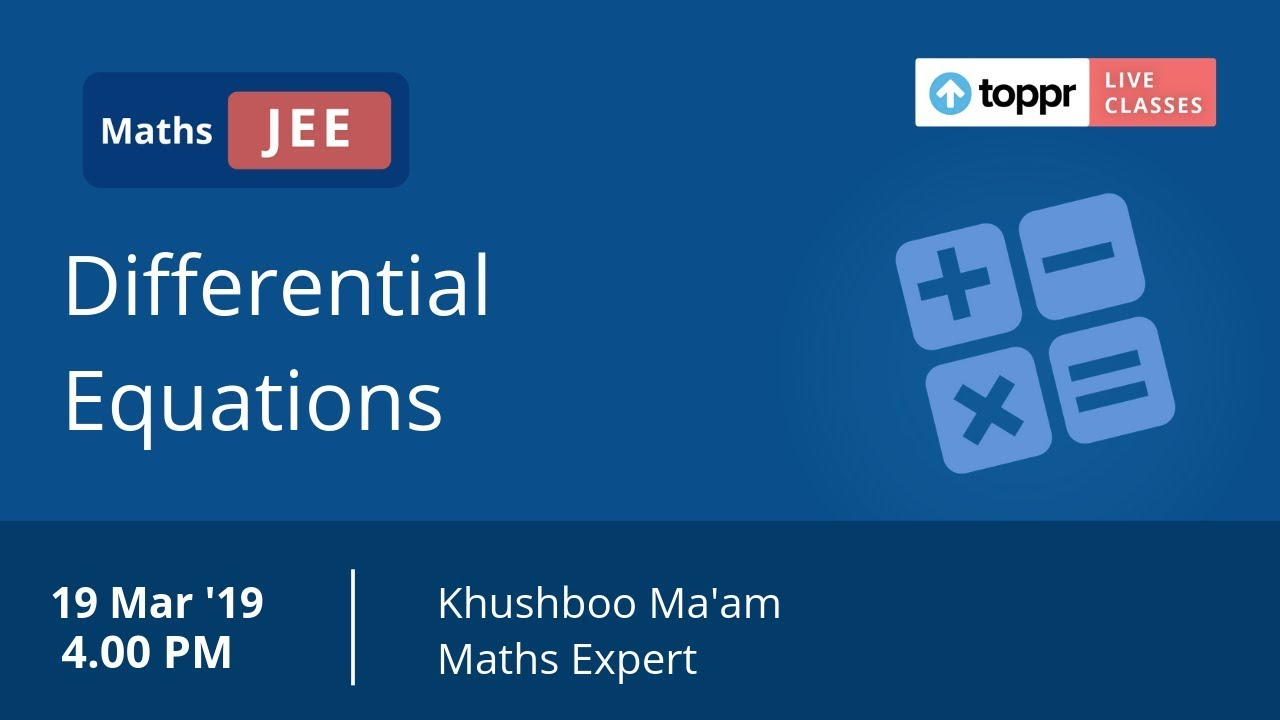 Homogeneous Differential Equation: Functions, Videos, Solved Examples