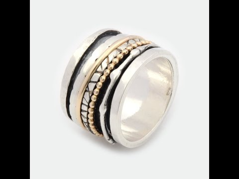 Sterling Silver \u0026 Gold Filled Spinning Ring Handcrafted From Israel