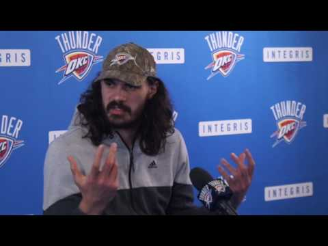4.26.17 Thunder Exit Interviews with Steven Adams (Part 1 of 2)