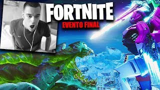 REACCIONANDO AL EVENTO FINAL *BATALLA ROBOT VS MONSTRUO* FORTNITE