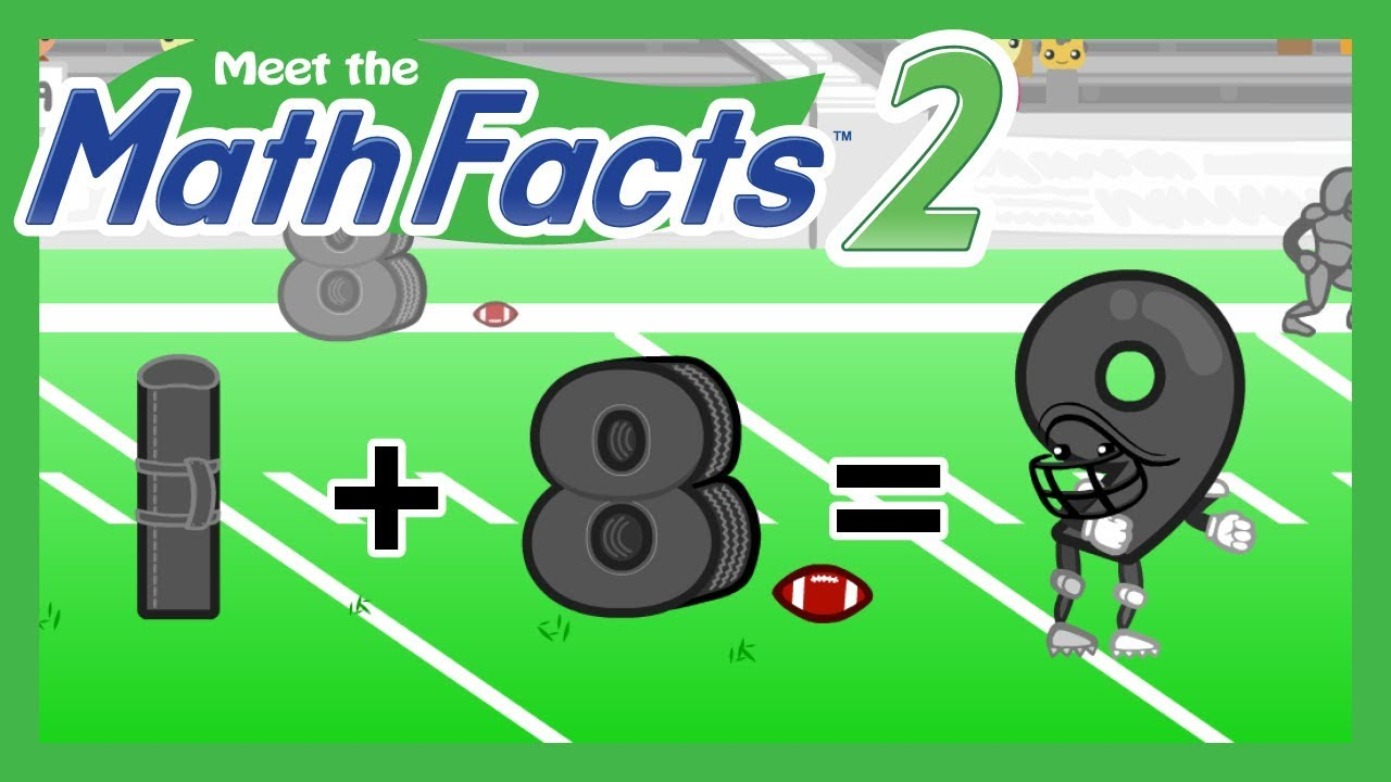 Meet the Math Facts Level 2 - 1+8=9 - YouTube