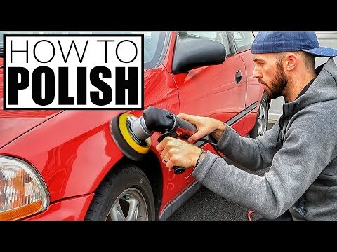 How To Polish A Car - Car Polishing w/ Harbor Freight DA Polisher Car Detailing and Cleaning!