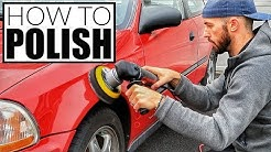 How To Polish A Car w/ Harbor Freight DA Polisher - Car Detailing and Paint Correction!