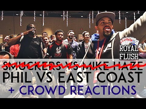 Royal Flush - Captain Smuckers vs Mike Haze CROWD REACTIONS (Phil vs East Coast)