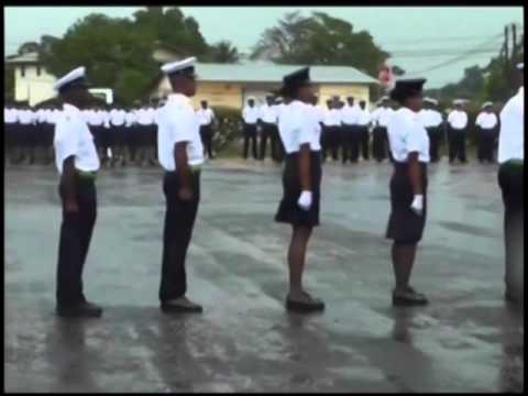 Squad Number 90 graduates from Belize's National Police Training Academy in Belize