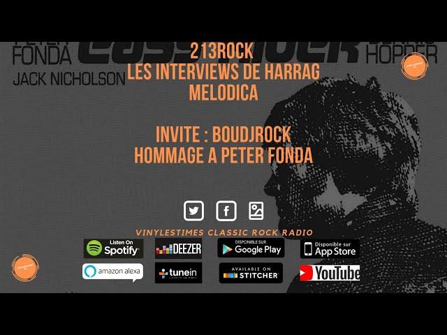 Harrag Melodica reçoit Boudjrock pour un hommage à Peter Fonda via Easy Rider.