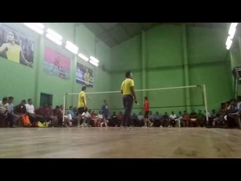 Badminton tournament final match in residency club indore.
