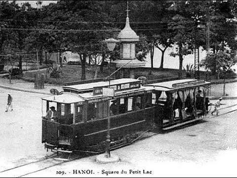Old streetcars in Hanoi