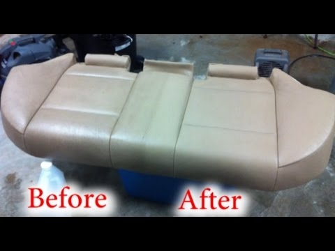 Clean car leather seats like a pro with no special tools youtube for How to clean interior car seats