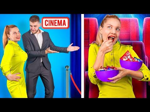 Как пронести еду в кинотеатр - Смешные трюки с едой