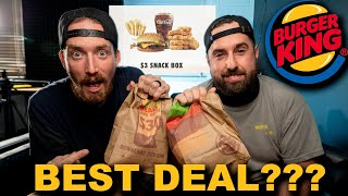 Best Deal in Fast Food  Burger King $3 Snack Box