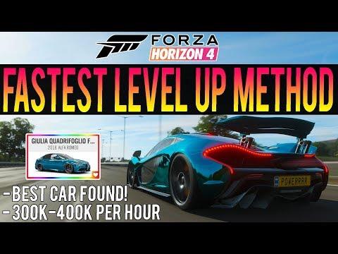 Forza Horizon 4 - INSANE XP LEVEL UP METHOD! + Best Car For Influence! thumbnail