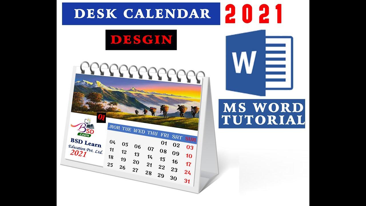 Bsd Calendar 2021 How to calendar design in ms word 2021 || Disk Calendar || Ms word