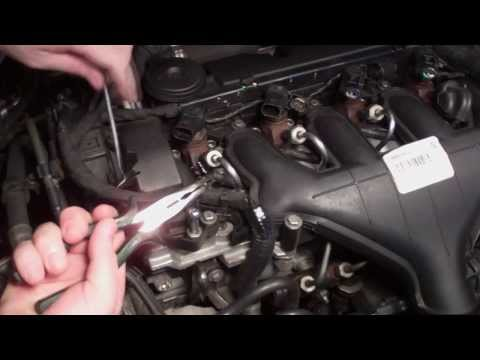 Diesel injector leak-off pipe o-ring seal replacement