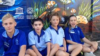 Charlie, Maxwen, Toby and Billie #MyOceanPledge Great Barrier Reef World Heritage marine site