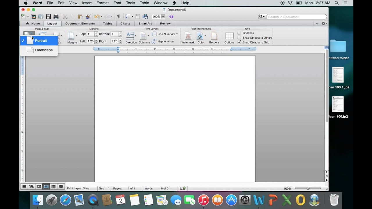 Portrait And Landscape In Microsoft Word For Mac