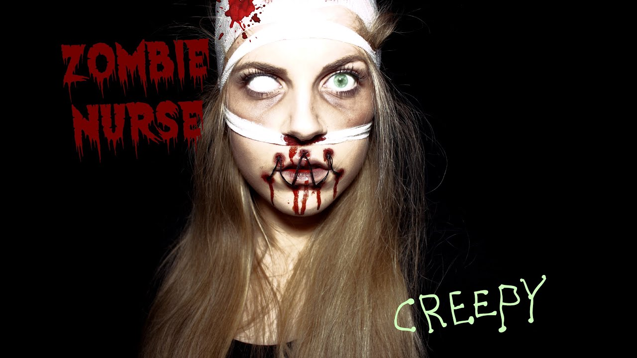 ZOMBIE NURSE Makeup Look #Horroktober - YouTube
