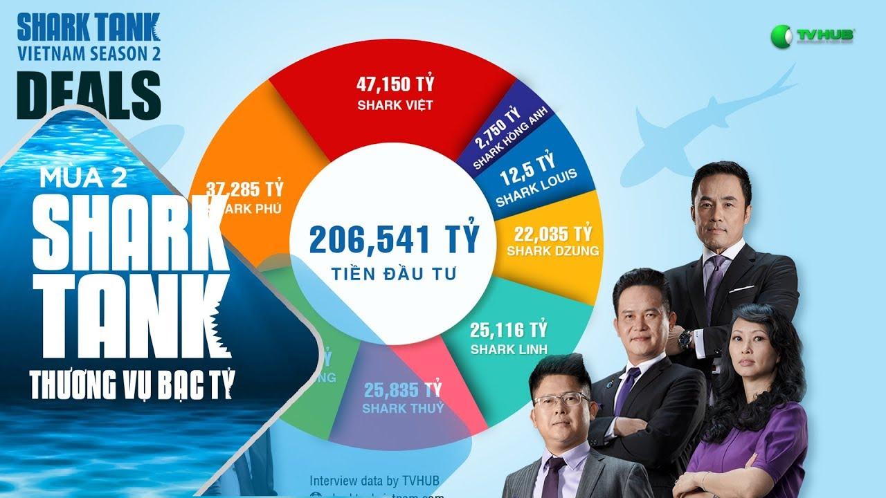Số Tiền Đầu Tư Ấn Tượng : 206,541 Tỷ | Shark Tank Việt Nam | Thương Vụ Bạc Tỷ Mùa 2