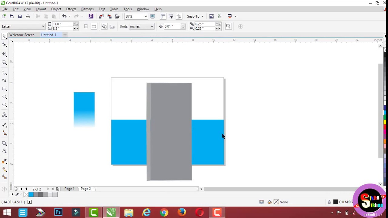How To Use Corel Draw Transparency Tool Hindi Video Tutorial - YouTube