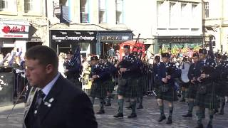 Riding of the Marches, High Street, Edinburgh, Sept. 15, 2019. Young bagpipers, Part 1.