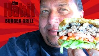 Habit Burger®Grill | Roasted   Garlic Portabella Double Charburger REVIEW!