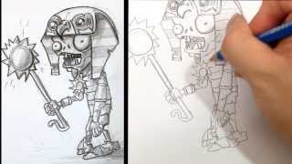 How to Draw Ra Zombies PVZ 2