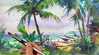Watercolor demonstration | Palm beach