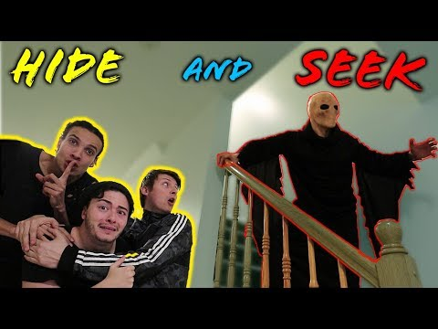 SCARY MONSTER BROKE IN DURING HIDE AND SEEK AT 3 AM!! (WHO IS THIS??)