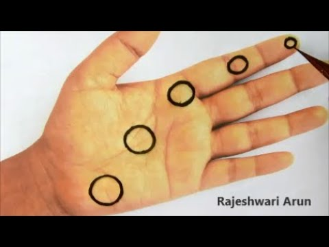 Repeat Latest Easy Arabic Mehndi Design For Front Hands New