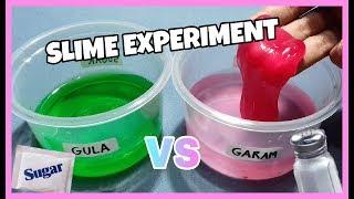 Cara Membuat Slime Dengan Garam VS Slime Dengan Gula || Experiment