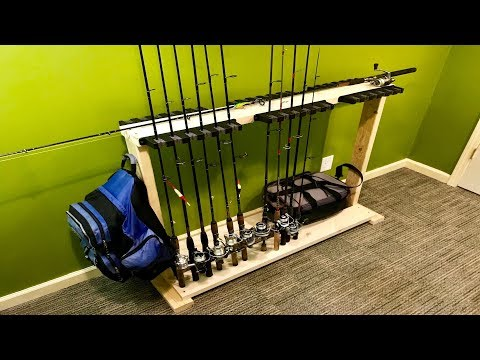 DIY Fishing Rod Holder/Stand (Home Made)