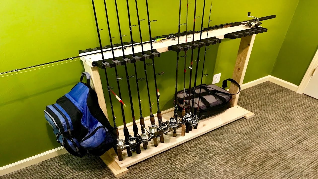 DIY Fishing Rod Holder/Stand (Home Made) - YouTube