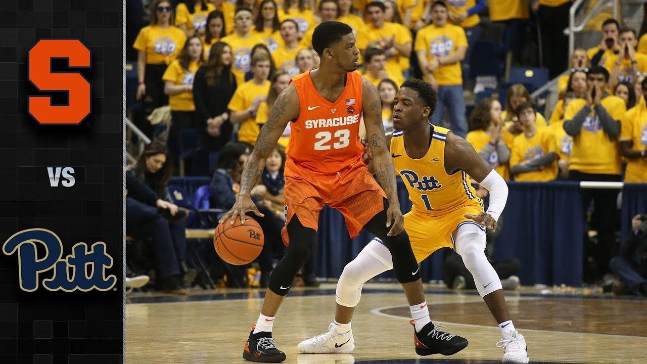 Syracuse Vs Pittsburgh Basketball Highlights 2018 19 Youtube