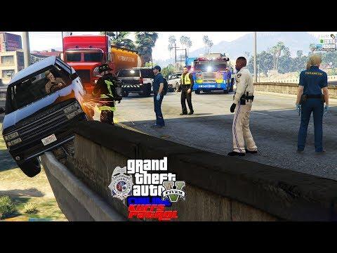 Repeat GTA 5 Real Life Mod #149 UPS Semi Truck Hauling Double