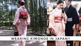 JAPAN VLOG 003  • Osaka + Kyoto | WEARING KIMONOS & HEAPS OF STREET FOOD!!