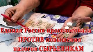 Смотреть видео Единая Россия проголосовала ПРОТИВ повышения налогов СЫРЬЕВИКАМ, зато налоги народу повышают охотно онлайн