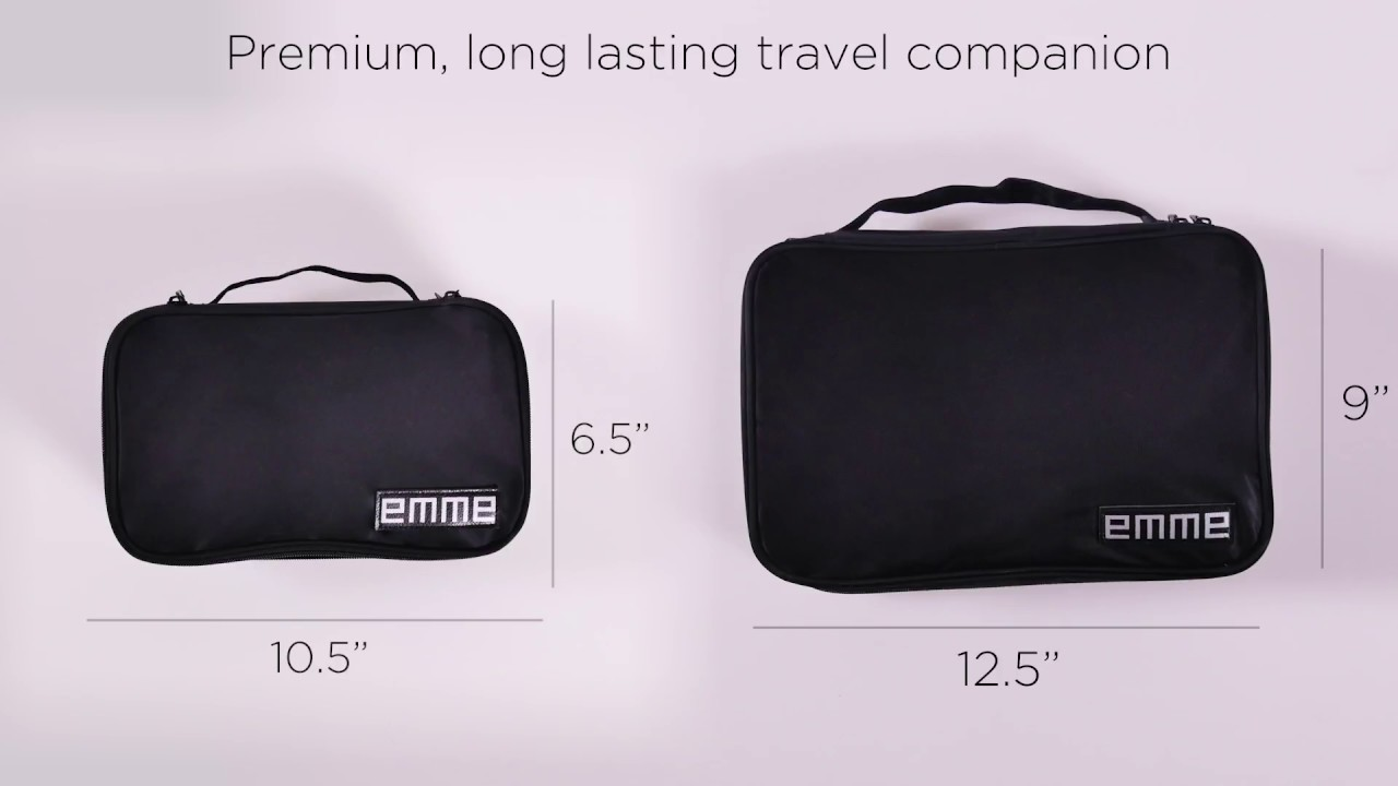 Have The Perfect Travel Bag Set With An Emme Combination Cosmetic And Toiletries Bags